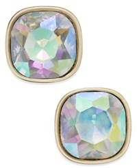 Abs By Allen Schwartz Gold Tone Colorful Stone Stud Earrings
