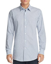 Bloomingdale's The Men's Store At Plaid Classic Fit Button Down Shirt Blue