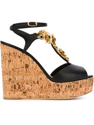 Giuseppe Zanotti Design Wedge Sandals Black
