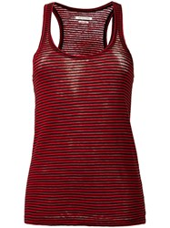 Etoile Isabel Marant Striped Tank Top Red