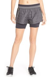 Women's Lole 'Charlie' Water Repellent Layered Shorts Dark Charcoal