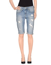 Guess Denim Denim Bermudas Women Blue