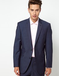 Gibson Suit Jacket Fine Stripe Blue