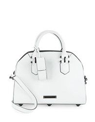 Kendall Kylie Holly Leather Dome Satchel White