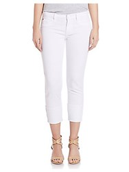 Hudson Jeans Rolled Stretch Cotton White