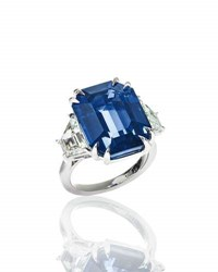 N M Jewelry Shop Ceylon Royal Blue Sapphire And Diamond Ring In Platinum