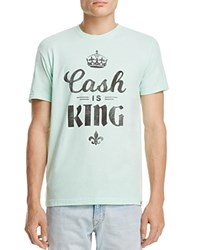 Kid Dangerous Cash Is King Graphic Tee Heather Mint Green