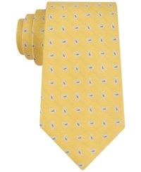 Tommy Hilfiger Men's Oxford Pine Classic Tie Yellow