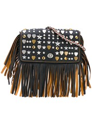 Coach Embellished Dinky Crossbody Bag Women Leather One Size Black
