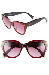 Women's Freida Rothman 'Margaux Elegant' 54Mm Retro Sunglasses Wine