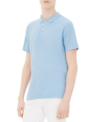 Sandro Midnight Knit Slim Fit Polo Sky Blue