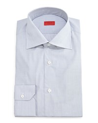 Isaia Solid Button Down Dress Shirt Light Gray Light Grey