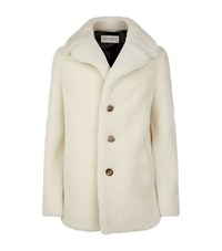 Saint Laurent Chunky Shearling Jacket White