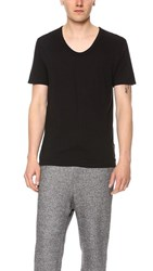 Alexander Wang T By Classic Low Neck Tee Black