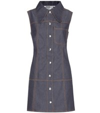 Mcq By Alexander Mcqueen Denim Mini Dress Blue