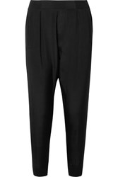 Atm Anthony Thomas Melillo Silk Crepe De Chine Track Pants Black