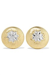 Buccellati Macri 18 Karat Gold Diamond Earrings One Size