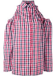 Victoria Tomas Checked Shirt Red