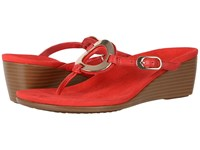 Vionic Orchid High Risk Red Sheep Nappa Women's Wedge Shoes