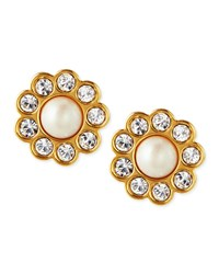 Faux Pearl Flower Stud Earrings Kate Spade New York White