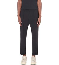 Vince Cropped Wool Blend Trousers Coastal