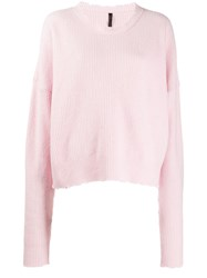 Unravel Project Relaxed Fit Jumper Pink
