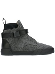 Giuseppe Zanotti Design Shark Hi Top Sneakers Grey