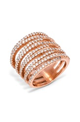 Baublebar 'Ice Twister' Ring Rose Gold