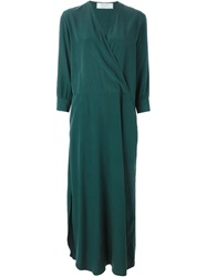 Societe Anonyme Long Wrap Dress Green