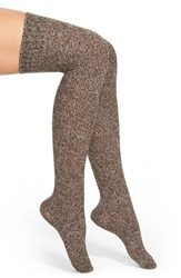 Women's Kensie Twisted Over The Knee Socks Dark Wood
