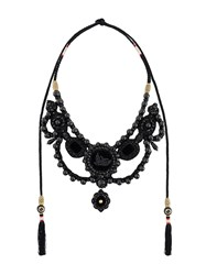 Gucci Beaded Gothic Necklace Black