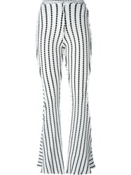 Richard Malone Patchwork Twisted Seam Trousers White