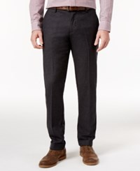 Tommy Hilfiger Men's Tailored Fit Cuffed Pants Charcoal