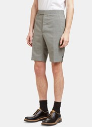 Thom Browne Checked Buttoned Shorts Black