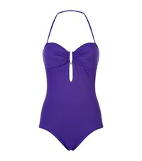 Elizabeth Hurley Beach Mercury Bandeau Swimsuit Female Purple