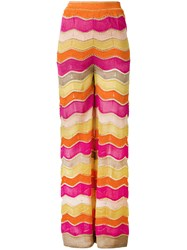 M Missoni Zig Zag Flared Trousers