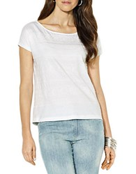 Lauren Ralph Lauren Petite Embroidered Cotton Tee White
