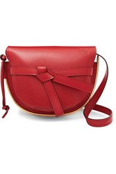 Loewe Gate Small Embellished Leather Shoulder Bag Claret