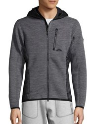 J. Lindeberg Ski Regal Insulated Hooded Jacket Light Grey Melange