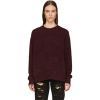6397 Red Alpaca And Wool Crewneck Sweater