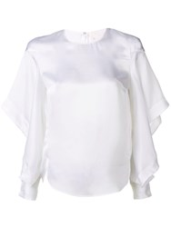 Genny Long Sleeved Top White