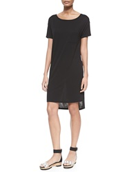 T By Alexander Wang Short Sleeve T Shirt Dress With Pocket