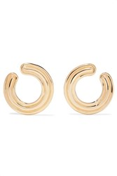 Melissa Kaye Jen 18 Karat Gold Hoop Earrings One Size