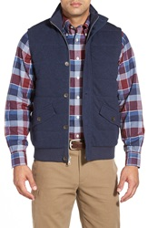 Brooks Brothers 'Canaan' Quilted Vest Black Iris Heather