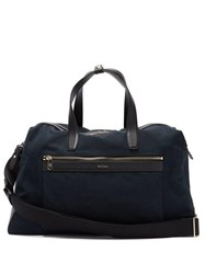 Paul Smith Leather Trimmed Canvas Holdall Navy