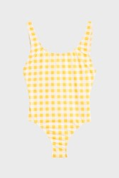 Solid And Striped Women S Anne Marie Gingham One Piece Boutique1 Yellow
