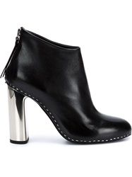 Premiata Metallic Heel Booties Black