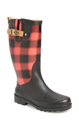 Chooka Women's 'Lumber' Rain Boot Red Matte