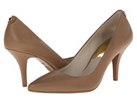 Michael Michael Kors Mk Flex Mid Pump Dark Khaki Saffiano High Heels Brown