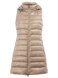 Herno Hooded Padded Gilet Nude And Neutrals